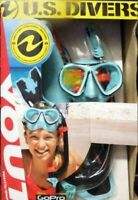 NEW US Divers Youth GoPro Ready Silicone Snorkeling Set, Medium