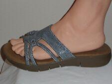 Aerosoles A2 Womens Gray Faux Snake Flat Sandal Shoe - Size 6M