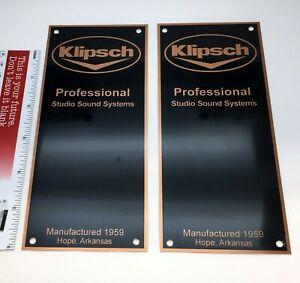 Klipsch Professional Sound Systems Hope Arkansas Reproduction Speaker Badge PAIR