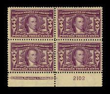 325 LOUISIANNA PURCHASE Monroe 3cent US MNH Plate Block F-VF CV$1,050 nice L@@K