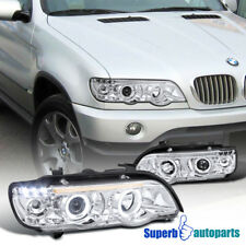 2001-2003 BMW X5 Dual Halo Projector Headlights w/ LED Lamps Replacement Pair