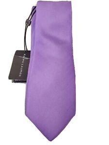 Black Label Ralph Lauren Silk Hand Made Italy Lavendar Purple Tie $155 A3F