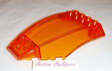 Lego Windscreen 6 x 10 Curved Transparent Orange 76012 Spaceship Batman