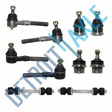 New 10pc: All Tie Rod Links inner and outer + 4 Ball Joints + 2 Sway Bar Links