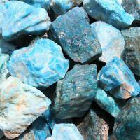 100g/set HUGE Bulk Lot Natural Rough Blue Apatite (Crystal Stones Unpolished)