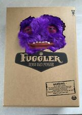 FUGGLER Funny Ugly Monster MR BUTTONS Mister PURPLE FURRY PLUSH WITH TEETH