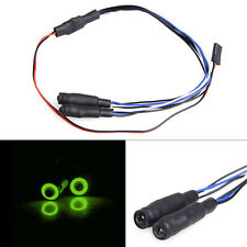 2Leds Angel Eyes&Demon Eyes LED Headlight Back Light for 1/10 RC Car Green+White