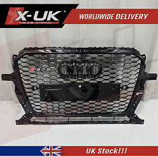 RSQ5 STYLE FRONT GRILL GLOSS BLACK FOR AUDI Q5 2013-2015