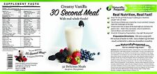 30 Second Meal Vanilla by Naturally Prepared! Vegan and Gluten Free Shake