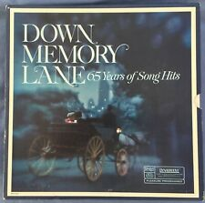 DOWN MEMORY LANE--65 years of Song Hits--Barely or never Played-Reader's Digest