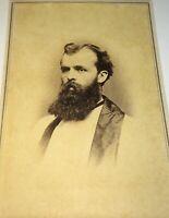 Rare Antique American Civil War Era Religious / Educated Gent, CT CDV Photo! US!