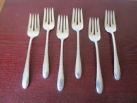 Gorham INVITATION Set of 6 Salad Forks Silverplate Flatware Lot C