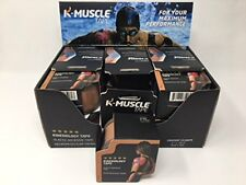 K-MUSCLE TAPE 5 STAR Coton Elastic Kinesiology 2 x 16.2-Inch (5cm x 5m)-12 Units