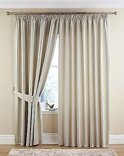 Darwin lined curtains cream - stripe detail blue/silver natural OR pink/purple