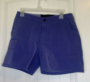 Ibex Shorts Purple Pockets Zipper ClimaWool Women's Size 6 Excellent Condition