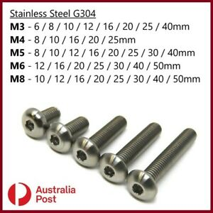 M3 M4 M5 M6 M8 Button Socket Head Bolt s Screw s Allen Stainless Steel G304
