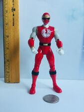 "2002 Bandai MMPR Power Rangers Ninja Storm: 5.75"" Red Ranger Action Figure VGUC"