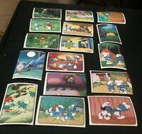 16 Peyo 1982 Vintage Smurf Super Cards