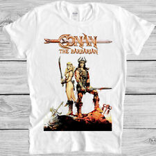 Conan T Shirt The Barbarian 80s Movie Arnold Retro Cool Gift Tee 1248