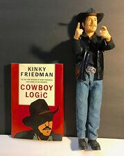 """Kinky Friedman Action Figure and Autographed Cowboy Logic Book.  Figure is 12.5"""""""