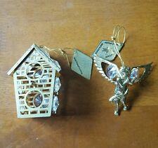 Angel / Bird House Swarovski Crystal 24 Kt Gold Plated Crystal Creation Kg&C