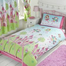 PRINCESS IS SLEEPING SINGLE DUVET COVER SET + 66in x 72in MATCHING CURTAINS