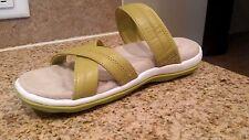 NEW 7M Ryka Cross Strap Leather Sandal