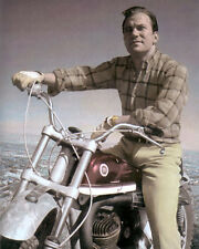 "WILLIAM SHATNER HOLLYWOOD ACTOR MOTORCYCLE 8x10"" HAND COLOR TINTED PHOTOGRAPH"