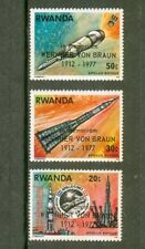 3 TIMBRES  NEUFS  RWANDA  1976