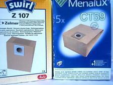 10 Staubsaugerbeutel Swirl Z107 Z 107 , und Menalux CT59 CT 59