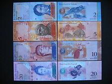 VENEZUELA  2 + 5 + 10 + 20 Bolívares 2007  (P88 - P91)  UNC