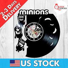 Minions HANDMADE Vinyl Record Wall Clock Modern Vintage Unique Decorative in USA