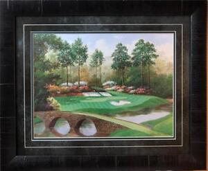 Charles Beck 12th Hole at Augusta National Golden Bell-Framed 23 x 19