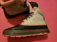 NIKE ACG WOODSIDE BOOTS GIRLS YOUTH SIZE 4y PINK GRAY DUCK BOOTS 486892-062