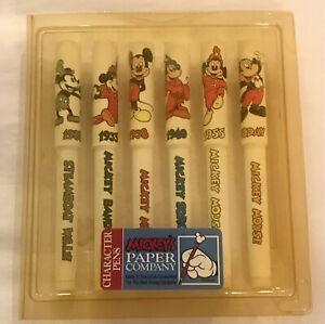 Vintage Disney Set of 6 Mickey Pens Paper Company National Design