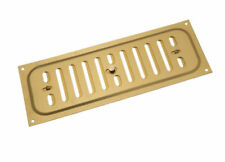 *Pkg of 25 Aluminium Gold Hit And Miss Louvre Vent Ventilation Cover 9 X 3 Inch