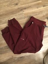 Figs Technical Collection Jogger Women's Scrub Pants Size Xl Burgundy