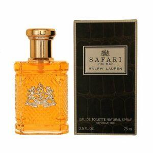 Safari by Ralph Lauren Perfume for Men 2.5 oz / 75ml EDT Spray New In Box
