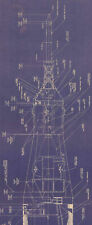 Saturn V 1:72 scale NASA Apollo Rocket Blueprint 6 Feet Tall