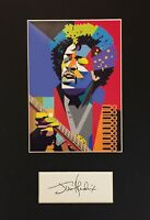 Jimi Hendrix - Museum Grade Autograph + EXCLUSIVE ART PRINT - Mounted ⭐⭐⭐⭐⭐