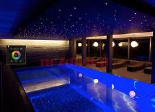 DIY 32w led fiber optic light 600xstar ceiling touchpad control night light 3m