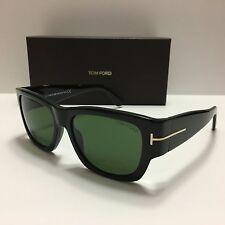 New Tom Ford Stephen TF493 01N Shiny Black/Green Unisex Sunglasses 100% Authenti
