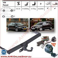 Gancio traino VW Passat B-6 2005-2010 + elettrico 7-poli OMOLOGAZIONE   NUEVO
