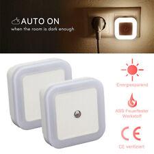 2pcs Mini LED Noche Luz Auto Sensor Control Mesita Dormitorio de Pared Lámpara