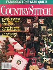Country Stitch Magazine Nov/Dec 1992 Christmas Holiday Ornaments & Toppers