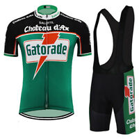 GATORADE GREEN RETRO Cycling BIKE Jersey Tricot Maillot BIB Short
