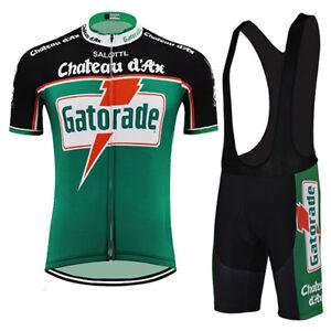 GATORADE GREEN RETRO Cycling BIKE Jersey Tricot Maillot BIB Short