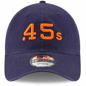 HOUSTON COLT .45's MLB NEW ERA 49FORTY COOPERSTOWN CORE SZ LRG NAVY HAT/CAP NWT