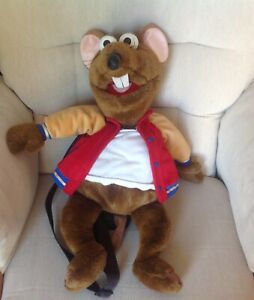 """JIM HENSON THE MUPPETS Rizzo Large Bag Backpack 20"""" Tall Excellent Condition"""