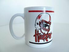 Nebraska Corn Huskers White Red College Football Team Helmet Logo Mug
